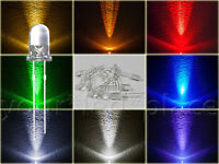 5mm LED Rund ULTRAHELL 30° BLAU,ROT,GRÜN,GELB,ORANGE,WEIß,UV Rundkopf superhell