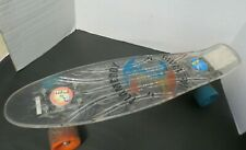 """Vintage World Industries Flame Boy & Wet Willy 23"""" Clear Skateboard Perry Board"""