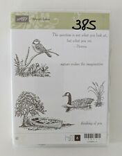 Stampin Up Moon Lake Duck Pheasant Branch Boat Tree Cling Rubber Stamps