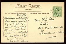 Channel Islands SARK 1911 PPC Church V. GOOD single ring code A postmark cancel