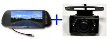 Wide Angle Parking Reversing camera 7'' Mirror monitor LCD Kit next day fast