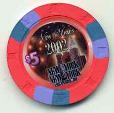 LAS VEGAS NEW YORK 2002 NEW YEAR $5 CASINO CHIP