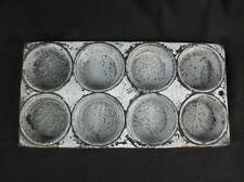 VTG Gray Enamelware Graniteware Muffin Cupcake Baking Pan 8 Cup 7X13 Primitive