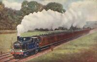 1916 VINTAGE CLAYTON TUNNEL STEAM TRAIN LOCOMOTIVE POSTCARD -FASCINATING MESSAGE