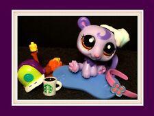 Authentic Littlest Pet Shop LPS #2195 SWIRL Advent Polar Bear Starbucks