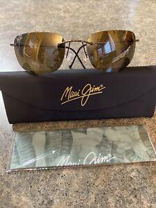 NEW MAUI JIM Kapalua 502-23 Polarized (Titanium) - Sunglasses with Case