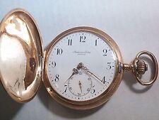 Audemars Piguet Freres Pocket Watch Gold 14 kt Swiss Made. Brassus Geneve Hunter