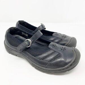 Keen Women 7.5 Flat Shoe Black Mary Jane leather buckle comfort hike outdoor