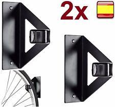 2X soporte para colgar bicicleta pared techo horizontal vertical ganchos de bici