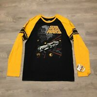 Star Wars Fifth Sun Mens Black/Yellow L/S Graphic T Shirt Size 2XL NWT
