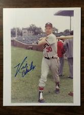 Milwaukee Braves Neil Chrisley Signed Autographed George Brace Photo 8x10
