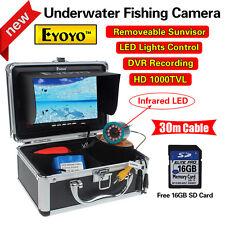 "EYOYO 30m 7""LCD Underwater Video DVR Camera IR 16GB Fish Finder Night Vision G0"
