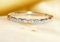14K solid gold Ring~turquoise ring~diamond ring~gemstone ring~wedding~SJR1601