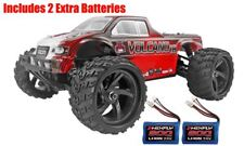 RedCat Racing Volcano-18 1/18 V2 4WD Monster Truck Red w/2 Extra Batteries