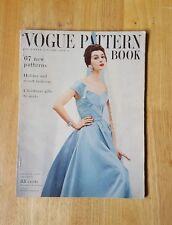 Vintage Vogue Pattern Book December - January 1954-1955