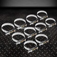 """10 X 2.5"""" STAINLESS ZINC COATED TURBO INTAKE INTERCOOLER SILICONE T-BOLT CLAMPS"""