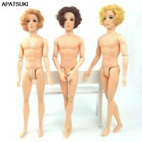 30cm 11 Moveable Jointed Naked Body for Ken Doll Head for Ken Boy Male Men Dolls