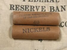 ONE - Buffalo Liberty V Nickel Roll 40 Coins 1913-1938 PDS