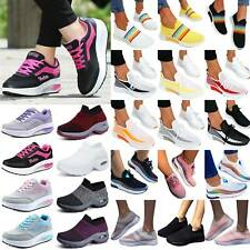 Womens Mesh Sneakers Trainers Lace Up Sports Tennis Comfy Flat Walking Shoes USA