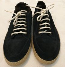 NOBRAND Espadrilles lace up Suede Leather Sneakers Navy Size uk 6 eu 39