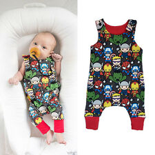 Cartoon Superhero Newborn Baby Boys Girl Bodysuit Romper Jumpsuit Clothes Outfit