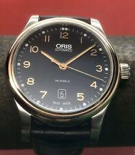 Oris Classic Date Swiss Automatic 18k Rose Gold Bezel 42mm Stainless Steel 7594