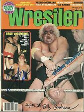 Sbg57 Superstar Billy Graham signed Wrestling Magazine w/Coa Greg Valentine