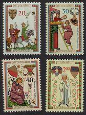 Liechtenstein: Minnesingers (2nd issue); complete unmounted mint (MNH) set