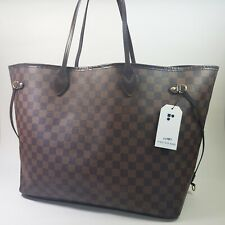 Auth Louis Vuitton Neverfull GM Damier Ebene N51106 Genuine Shoulder Tote LC487