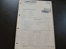 Original Service Manual Car Radio Philips n6d11t Coupe