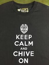 Mens theChivery Keep Calm And Chive On KCCO Police Badge Black T-Shirt XL