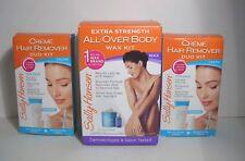 1 Sally Hansen All-Over Body Wax Kit & 2 Sally Hansen Creme Hair Remover Kits
