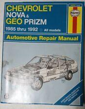 Haynes Chevrolet Nova Geo Prizm Automotive Repair Manual 1985 thru 1990 1642
