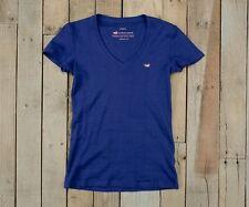NWT Southern Marsh Women's The Caroline Short Sleeve Blue V-Neck T-Shirt XS
