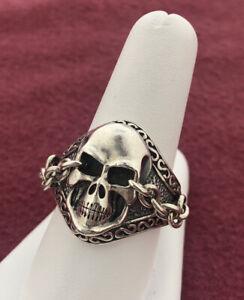Scott Kay Men's Skull Ring Size 10.25