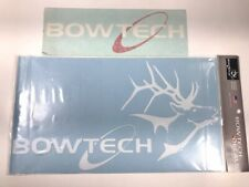 2 Bowtech Archery Vinyl Sticker Decals 8x14 and 3x10 Brand New
