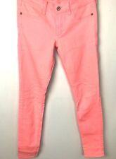 Abercrombie & Fitch Womens  Slim Skinny Jeans Neon Pink  25w L29
