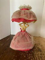 Vintage Mid Century Hard Plastic Lady Figural Lamp
