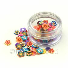 Mixed Flower Nail Art Pot Containing 120 Slices