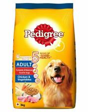 Pedigree Adult Dry Dog Food,Dog Treats,Pet Food ,Chicken & Vegetables, 3 kg Pack