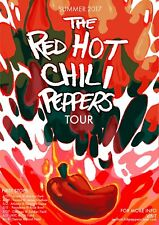 "Reproduction Red Hot Chili Peppers Poster, ""Summer 2017"", Home Wall Art"