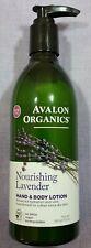 Avalon Organics Nourishing Lavender Hand & Body Lotion, 12 oz.