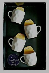 Dimple Tankard eggcups - set of 4 mini dimpled tankard egg cups boxed or loose