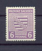 SBZ 76 Yb 6 Pfg. seltene Farbe rötlichgrauviolett postfrisch gepr. Ströh (xs42)