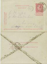 BELGIUM 1905 10C King Leopold II letter card w PROTECTION-AGAINST-FRAUD-POSTMARK