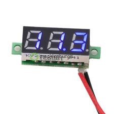 LED DC 3.0-30V Blue Volt Voltage Meter Display Digital Voltmeter With 2 Wire