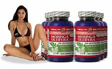 Slimming Pills - Moringa Oleifera Leaf Powder Extract - Fat Burner - 6 Bottles