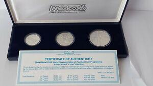 MEXICO , 1985   «1986 FIFA World Cup»  Silver 0.925 , Proof. in original box