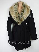 BNWT So Fabulous in pelliccia sintetica collo sciallato Wrap Cappotto Taglia 22 RRP £ 100