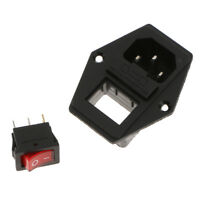 3 Pin IEC320 Inlet Module Plug Fuse Switch Power Socket 15A 250V 3D Printer